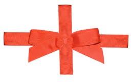 Nastro rosso per un regalo immagini stock libere da diritti