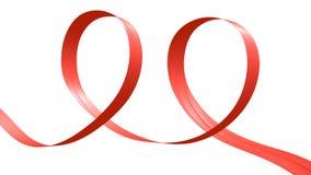 Nastro rosso sotto forma di due cicli royalty illustrazione gratis