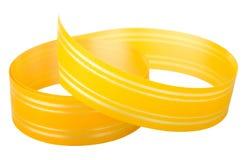 Nastro a strisce giallo Fotografia Stock Libera da Diritti