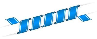 Nastro torto natale blu lungo Fotografia Stock Libera da Diritti