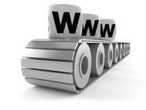 Nastro trasportatore con il testo di WWW Fotografie Stock