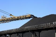 Nastro trasportatore del carbone Immagini Stock Libere da Diritti