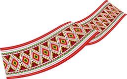 Nastro variopinto - decorazione con gli ornamenti variopinti dello slavo Immagini Stock