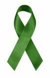 Nastro verde Fotografie Stock Libere da Diritti