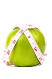 Nastro verde di bianco e della mela Immagine Stock Libera da Diritti