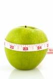Nastro verde di bianco e della mela Fotografia Stock