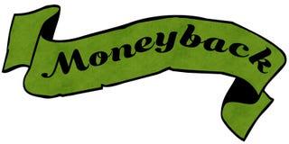 Nastro verde MONEYBACK Fotografia Stock