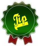 Nastro verde rotondo del TIP Fotografia Stock
