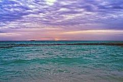 Nastrojowy morze i niebo Obraz Stock
