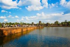 Nastroszona aleja Angkor Wat Obraz Royalty Free