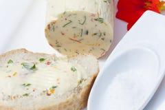 Nasturci zielarski masło na baguette zdjęcie stock