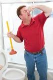 Nasty Bathroom Job stock photography