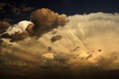 Nasty looking cumulonimbus cloud Stock Image