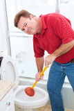 Nasty Plumbing Job Stock Images
