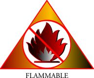 Nasusunog. Vector illustration of flammable symbol Royalty Free Stock Image