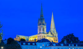 Nasz dama Chartres katedra, Francja Zdjęcia Royalty Free