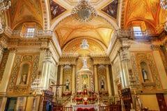 Nasz dama Guanajuato bazyliki Maryjna statua Guanajuato Meksyk Fotografia Royalty Free