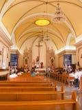 Nasz dama losu angeles Paz katedry wnętrze Fotografia Royalty Free