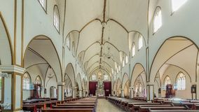 Nasz dama Mercedez Grecia wioski kościelny wewnętrzny Costa Ri Obrazy Stock
