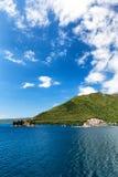 Nasz dama skała w Montenegro Zdjęcia Royalty Free