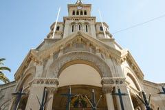 Nasz dama Vina Del Mącący, Chile agonia kościół - zdjęcie stock