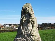 Nasz damy Lanzada rzeźba - Północny wybrzeże Hiszpania zdjęcie stock