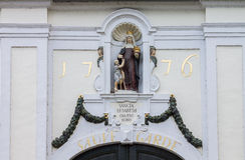 Nasz damy statua Bruges Obrazy Royalty Free