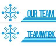 Nasz drużyna - pracy zespołowej Ludzki Kółkowy błękit Obraz Royalty Free