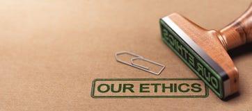 Nasz etyki, Biznesowe Moralne zasady Fotografia Royalty Free