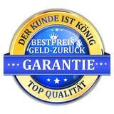 Nasz klient jest królewiątkiem Najlepszy pieniądze plecy lub cena Gwarantowaliśmy Niemieckiego języka Fotografia Stock