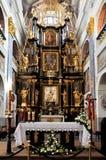 Nasz Kochana dama ÅšwiÄ™ta Lipka, kościół Polska Główny ołtarz zdjęcia royalty free