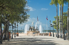 Nasz korzeń fontanna, San Juan, Puerto Rico Fotografia Royalty Free