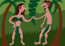 Nasz pierwszy rodzice ilustracji
