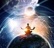 Nasz unikalny wszechświat Mieszani środki Obrazy Royalty Free
