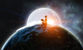 Nasz unikalny wszechświat Obrazy Royalty Free