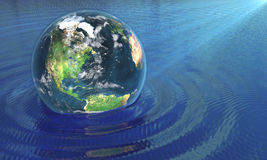 Nasz ziemia w wodzie Zdjęcia Stock