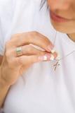 naszyjnik krzyżowa Fotografia Royalty Free