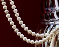 naszyjnik rosa rano perły sieci Obraz Royalty Free