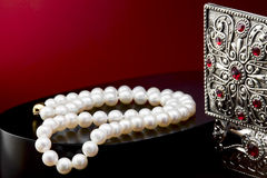 naszyjnik rosa rano perły sieci Fotografia Royalty Free
