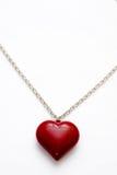 naszyjnik w kształcie serca wisiorek Obraz Royalty Free
