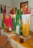 Natürlich gefärbte Lammwollgarnableitung Stockfotografie