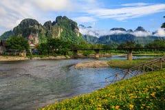 Natürlich in Laos lizenzfreie stockbilder