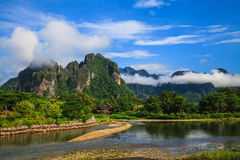Natürlich in Laos lizenzfreie stockfotografie