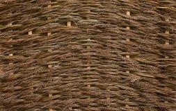 Natürliche Beschaffenheit einer aus Weiden geflochtenen unbearbeiteten Weide Lizenzfreie Stockbilder