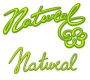 Natürliche Beschriftungssammlung Lizenzfreie Stockbilder