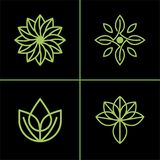 Natürliche Blatt-Ikone oder Logo Vector Design For Your-Geschäft stock abbildung