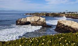 Natürliche Brücke in Santa Cruz lizenzfreies stockfoto