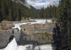 Natürliche Brücke - Yoho Nationalpark - Kanada stockfotos