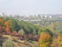 Natürliche bunte Landschaft des Herbstes Stockfoto