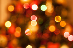Natürliche defocused Weihnachtslichter Stockfoto